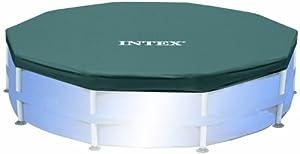 Intex - 58406 - Accessoires Piscines - Bâche De Protection Pour Piscine Tubulaire Ou Gonflable - Diamètre 3,05 M
