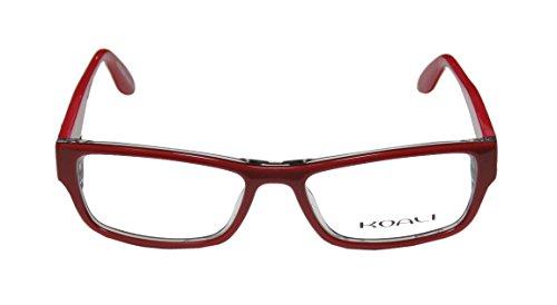 Koali 7200k Womens/Ladies Optical Designer Designer Full-rim Eyeglasses/Eyeglass Frame (51-16-135, Red / Clear) (Mirror Edge Cosplay compare prices)