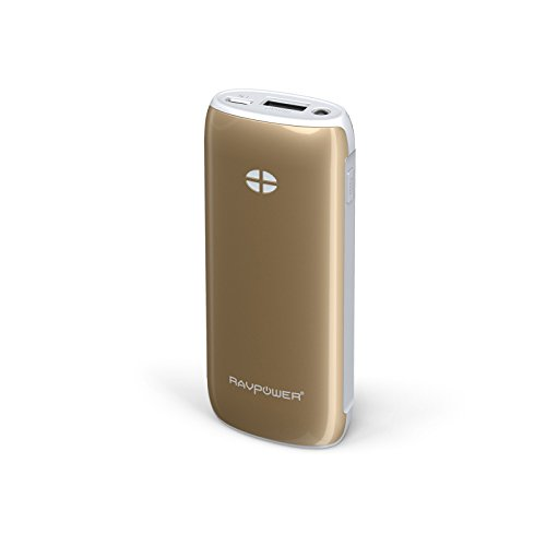 RAVPower Luster 6000mah Backup External Battery Pack Power Bank Charger iSmart(tm) Broad Compatibility. For iPhone 5s, 5c, 5, 4s, 4, iPod, iPad Air, Mini2 (Apple Adapter Not Provided); Samsung Galaxy S4, S3, S2, Note3, Note 2; Nexus 5, Nexus 4, HTC One, 3200mah external battery backup power battery bank case holder