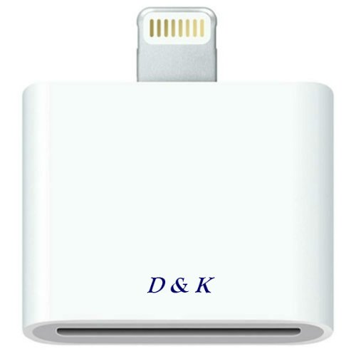 D & K Exclusives® 8-Pin Lightning To 30-Pin Adapter Converter Connector Data Transfer For Iphone 5, 5C, 5S / Ipod Touch 5 / Ipod Nano & Ipad 4 & Mini - 30 Pin