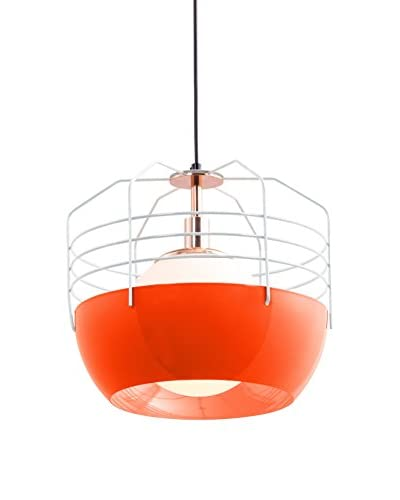 Zuo Frost Ceiling Lamp, White/Orange