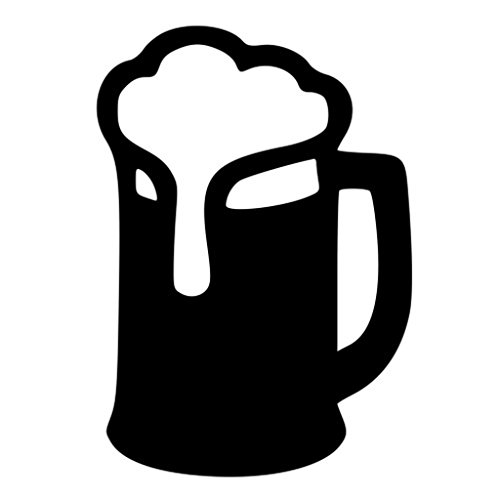 Beer Mug Vinyl Cut Decal | Cooler Fridge Cars Trucks Vans Walls Toolbox Laptop|Black| 5.5 In Tall Decal | KCD267 (Beer Cooler Sticker compare prices)