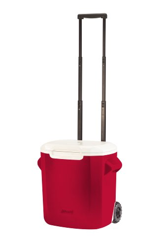Coleman 16-Quart Personal Wheeled Cooler, Red