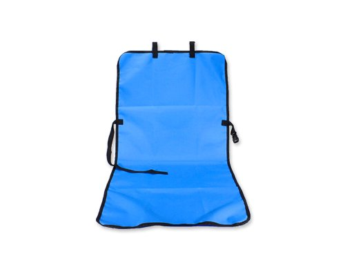 "Comfort Waterproof Bucket Single Car Seat Cover For Pets Dogs 43"" L X 21"" W - Blue front-937373"
