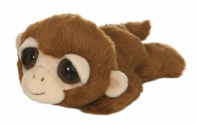 Davey the Plush Monkey Dreamy Eyes Laying Stuffed Primate by Aurora