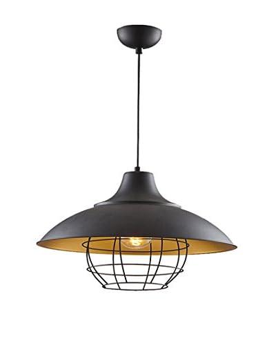Light&Design Lámpara De Suspensión Negro/Oro