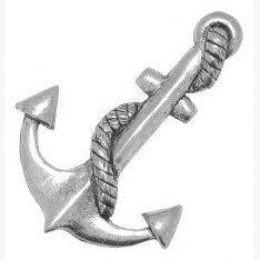 Pewter Pin Badge-Spilla a forma di ancora, idea regalo o per cravatta, sciarpa, cappello, cappotto o in borsa