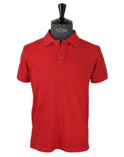 Scotch & Soda Mens Red Polo Shirt Sz Small (55201)