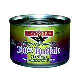 Evanger's Super Premium 100% Buffalo for Dogs, Case of 24