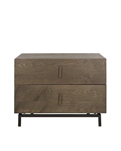 Safavieh Herschel Cabinet, Dark Brown/Black
