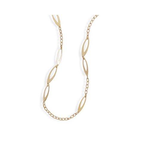 CleverSilver's Gold Plated Link Fashion Necklace