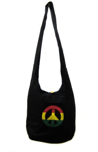 Rasta with Peace Shoulder Purse Sling bag Tote bag