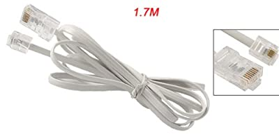 Telephone RJ11 6P4C to RJ45 8P8C Connector Plug Cable by uxcell