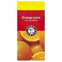 Euro shopper orange juice from concentrate 12x1l carton for Wine and orange juice name