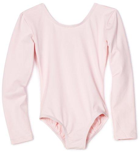Danskin Little Girls' Long-Sleeve Leotard, Petal Pink, Toddler (2-4) (Danskin Girls Pants compare prices)