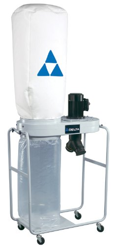New DELTA 50-760 1.5HP 1,200 CFM Vertical Bag Dust Collector