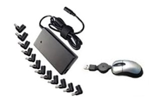 Laptop Replacement AC Power Adapter for Slim Universal 65W(12PCS) - Includes Mini Mouse