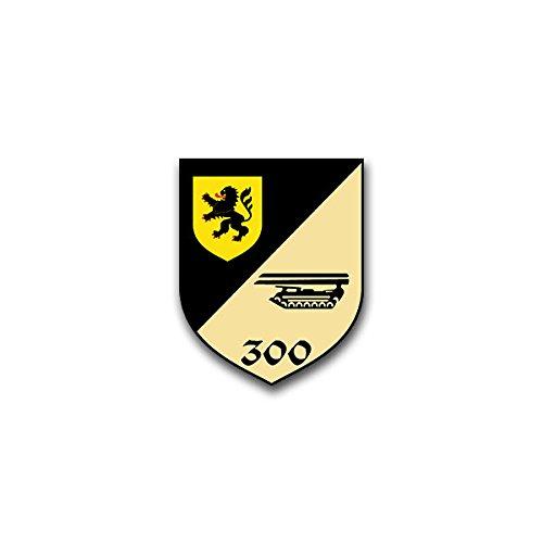Aufkleber / Sticker -PzPiKp 300 Panzerpionierkompanie 300 Külsheim Heer Heidenheim Bundeswehr Wappen Abzeichen Emblem passend für VW Golf Polo GTI BMW 3er Mercedes Audi Opel Ford (7x6cm)#A1506