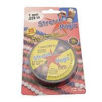 Stretch Magic Black 1mm/ .039 in 25 Meters Bead and Jewelry Cord