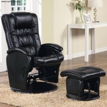 Swivel Glider Recliner With Ottoman