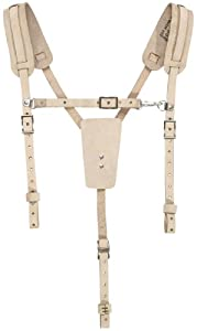 Klein 5413 Soft Leather Work Belt Suspenders