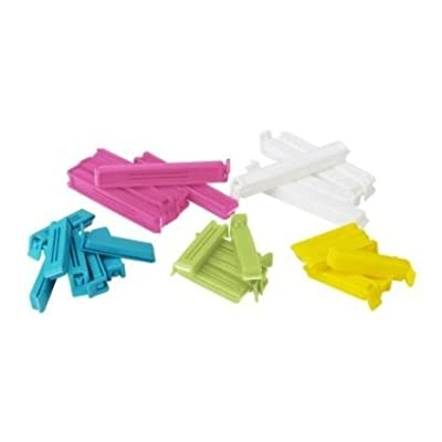 2 X Ikea Ikea Bevara 700.832.52 Sealing Clip, Assorted Color, Assorted Size, 30-pack