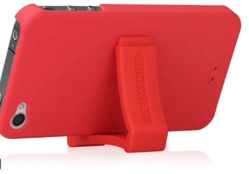 Tunewear IP4S-EGG-SHELL-08 EGGSHELL for iPhone 4S - 1 Pack - Case - Retail Packaging - Red