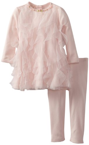 For Sale Biscotti Baby-Girls Infant Rolling In Ruffles Dress and Legging, Pink, 18 Months  Review