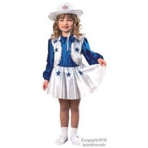 Toddler Dallas Cowboys Cheerleader Costume Size 2-4T for (1-2 Years) (Dallas Cowboy Toddler Cheerleader Costume)