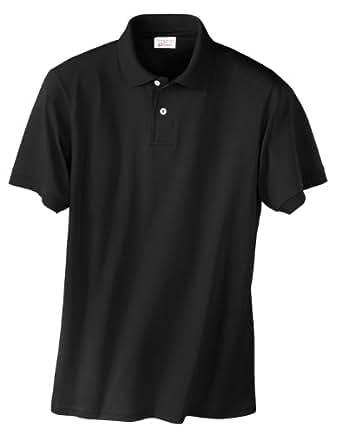 Hanes Men's 5.2 oz Hanes STEDMAN Blended Jersey Polo, S-Black