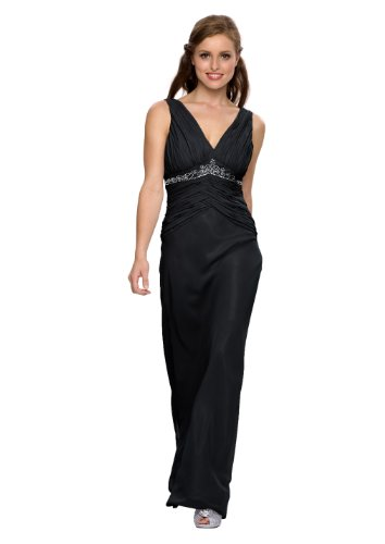 Evening dress, cocktail dress, for mother of the bride, color black, size 10 astrapahl