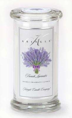 Kringle Candle Company Large Classic Apothecary Jar - French Lavender