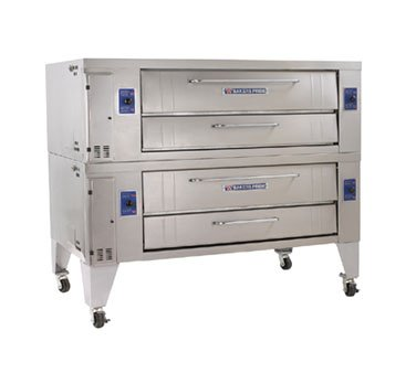 "Bakers Pride Y-602 Pizza Deck Oven, Gas, Double Deck, 60""W X 36""D Deck, Two 8"" High"