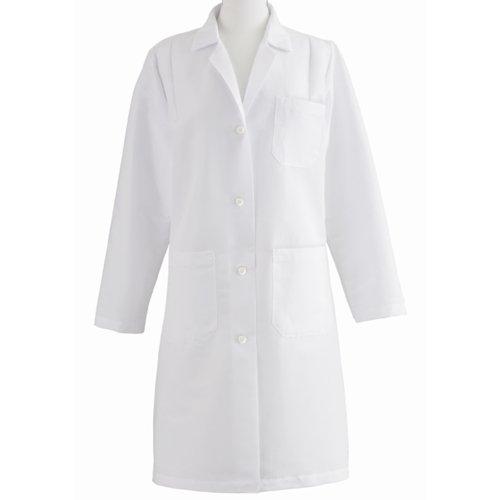 Medline MDT13WHT1E Women's Full Length Lab Coat, White
