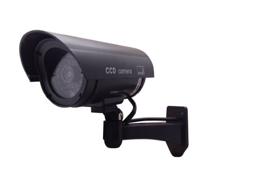 Cheapest Prices! UniquExceptional UDC4black - Outdoor Fake , Dummy Security Camera with Blinking Lig...