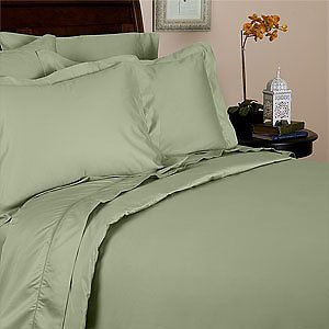 Wrinkle Free Luxury Sage 650 Thread Count Queen Size 8-Pieces Bed-In-A-Bag Egyptian Cotton