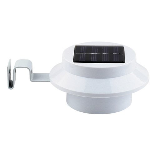 Domire Led Solar Powered Outdoor Gutter Fence Wall Light (Cool White)