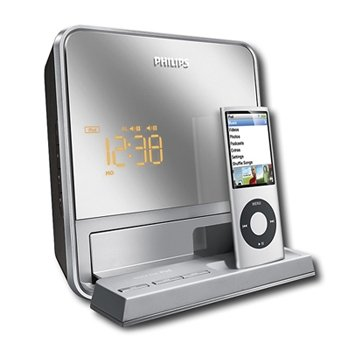 cheap clocks top quality philips dc190b 37 digital fm dual alarm clock radio with ipod dock by. Black Bedroom Furniture Sets. Home Design Ideas