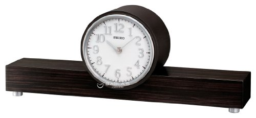 Dual Chiming Wooden Mantel Clock by Seiko QXJ018B