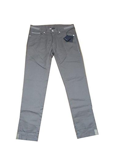 Paolo Pecora Jeans Grigio 5 Tasche Denim Canvas Taglia 46