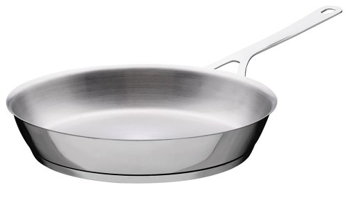 A di Alessi Pots & Pans Frying Pan, Stainless Steel, 28 cm, (AJM110/28)