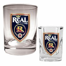Real Salt Lake MLS Rocks Glass & Shot Glass Set