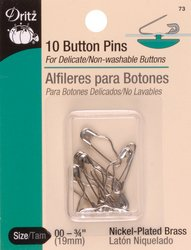 Dritz(R) Button Pins -10/Pkg 3/4 Inch