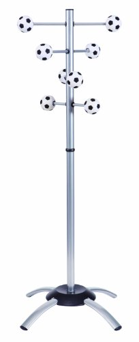 Alba Floor Coat Stand For Kids, Soccer Ball Shaped Pegs (Pmkidball) front-9961