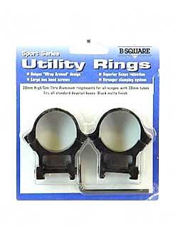 B-Square 30-mm Sport Utility Rings, Standard Dovetail-High Rise, Matte Black Finish