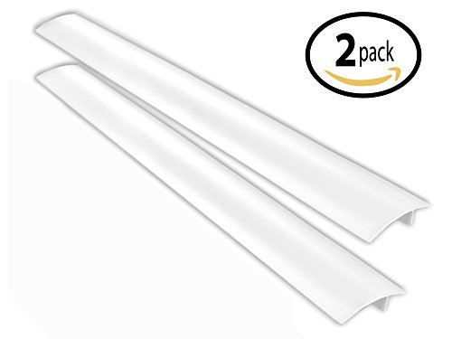 Primode Silicone Stove Kitchen Counter Gap Cover (2 Pack) Seals Gap Between Cabinets, Desks & Large Appliances to Prevent Mess High Quality, Heat-Resistant, Convenient, & Easy to Clean (White) (Appliance Table compare prices)