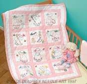 Jack Dempsey Stamped Nursery Quilt Blocks, 12/Pkg