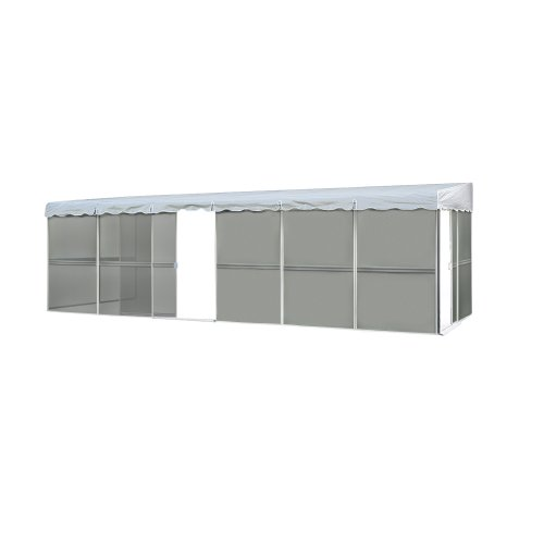 Patio Screen Room Enclosures: Patio Mate 10-Panel Screen Enclosure 09322, White With
