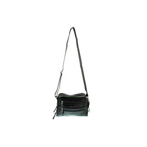 la-diva-womens-leather-organizational-shoulder-handbag-black-small
