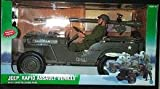 GI JOE 12 Inch Jeep Rapid Assault Vehicle with 75mm Recoiless Rifle and Figure